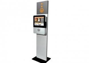 China Smart Custom Logo Card, Cell Phone Charging, Information Thin Free Standing Kiosk supplier
