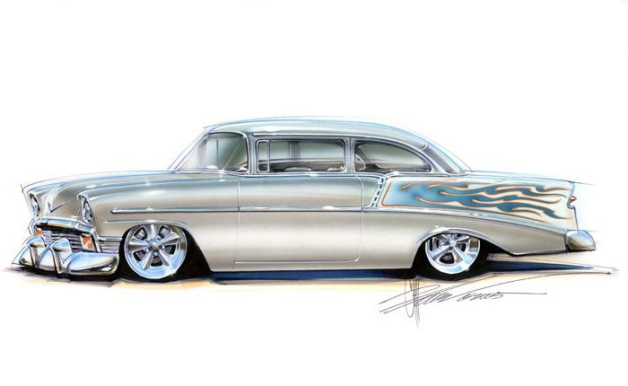 chip foose customs | Chip Foose Custom Car Drawings