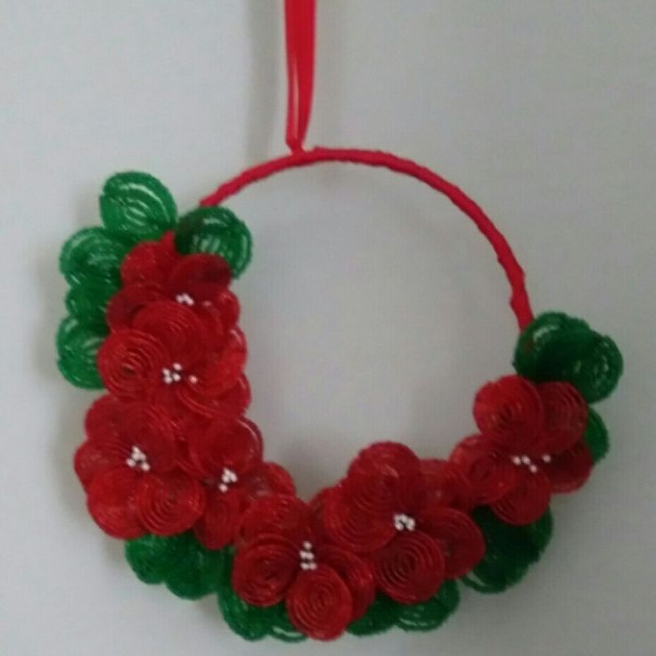 3/4 25cm red and green Christmas wreath $50 + $13 postage