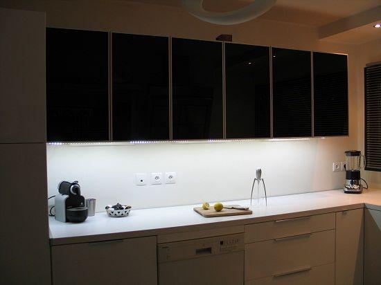 Avec un clairage led id es cuisine pinterest for Idee eclairage cuisine