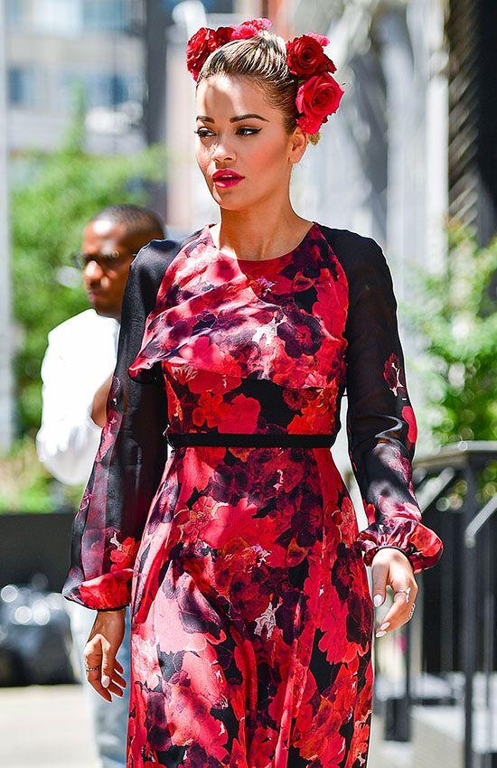 Rita Ora con look flamenco