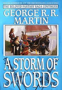 A Storm of Swords is the third of seven planned novels in A Song of Ice and Fire, a fantasy series by American author George R. R. Martin. It was first published on 8 August 2000 in the United Kingdom,with a United States edition following in November 2000.