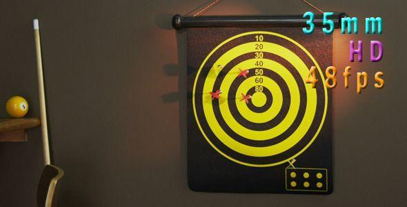 Target Dartboard by nyc_media_group Target dartboard hd. Shot on the Red Digital Cinema Camera at 48fps for slow Motion. 19201080 Quicktime photo-JPEG Film fps: 29.97