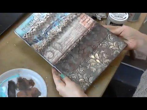 Кофе и Бирюза: видео мастер-класс по Микс Медиа Натальи Жуковой - YouTube