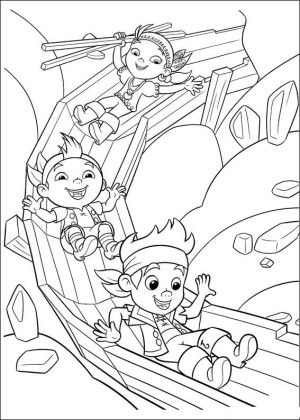 Jake and pirates coloring page 21