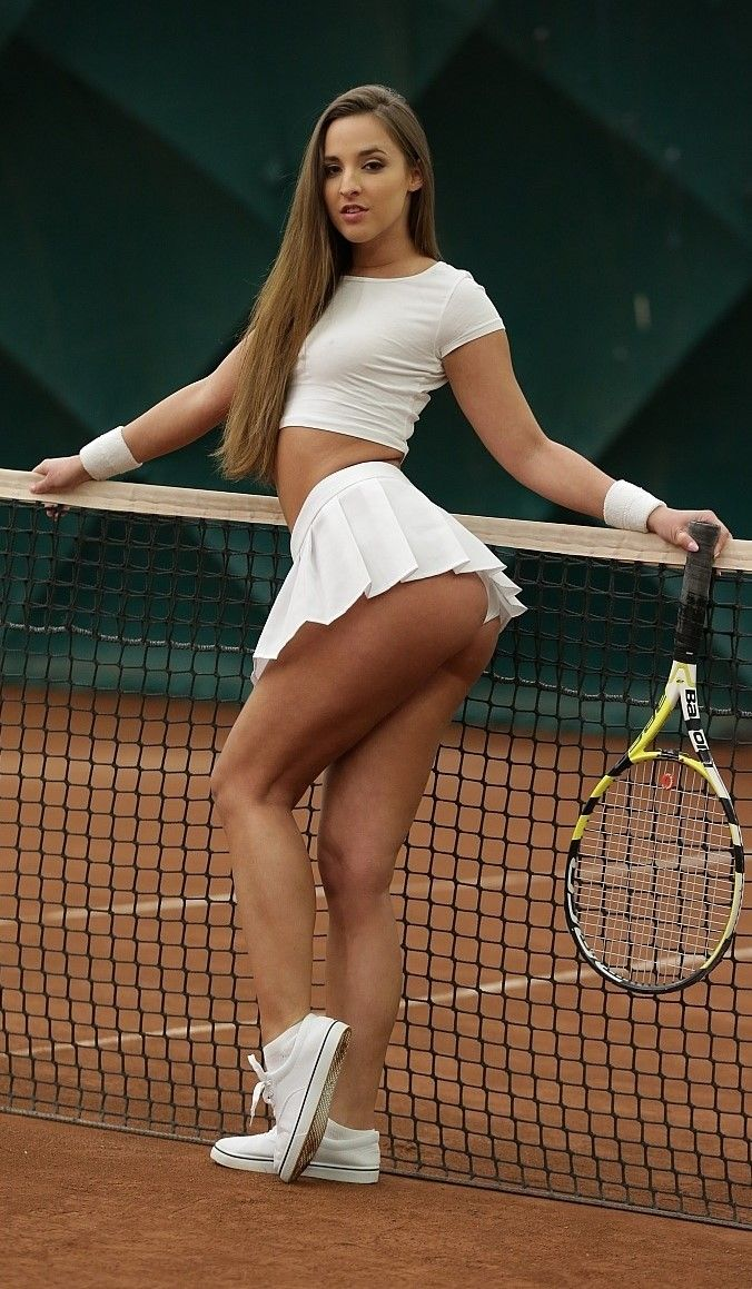 Necessary words... women wearing short tennis skirts are mistaken