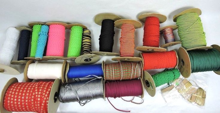 Huge Mixed Lot Of 21 Whole Rick Rack Cording Elastic Trim Sewing DIY Crafts  #Unbranded