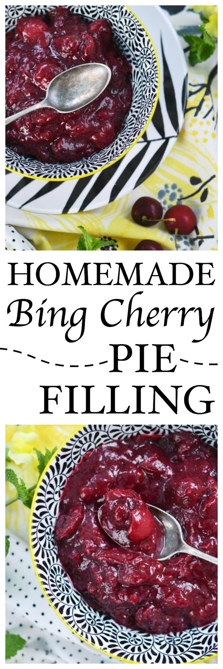 Homemade Bing Cherry Pie Filling Recipe Bing cherries