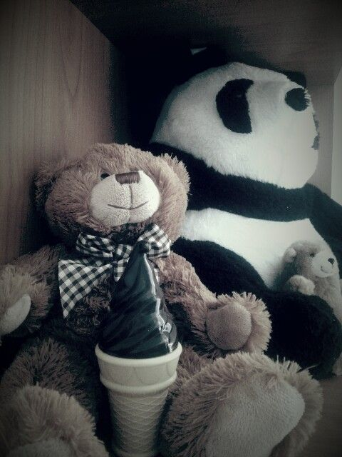Bears and icecream bubble ♡ chocolate
