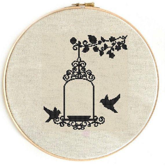 Cross stitch pattern, cross stitch bird, cross stitch chart, cross stitch PDF