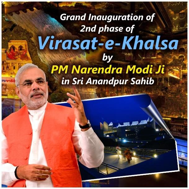 We proudly welcome PM Narendra Modi Ji on the grand inauguration of iconic cultural monument of Punjab Virasat-e-Khalsa.  #AkaliDal #ProgressivePunjab