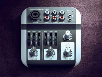 Mixer iOS Icon - More skeuomorphism...