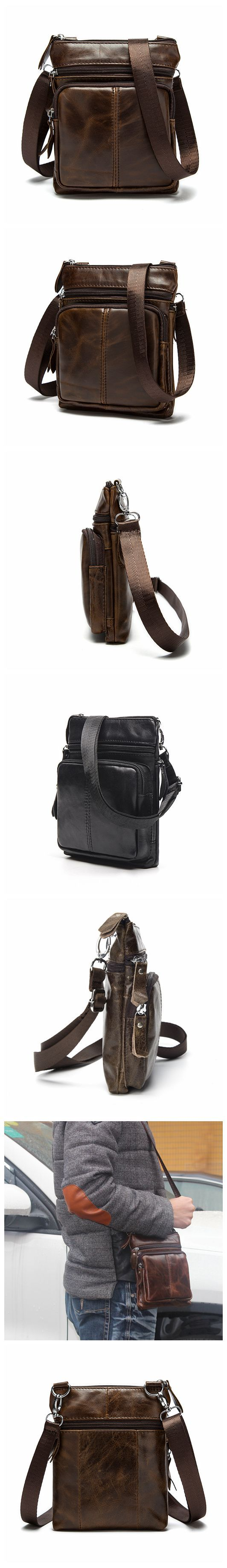 "Men's Top Grain Genuine Leather Zipper Shoulder Bag, Vintage Leisure Small Messenger Bag 701 Model Number: 701 Dimensions: 6.2""L x 1.1""W x 7.8""H / 16cm(L) x 3cm(W) x 20cm(H) Weight: 0.4lb / 0.5kg Hard"