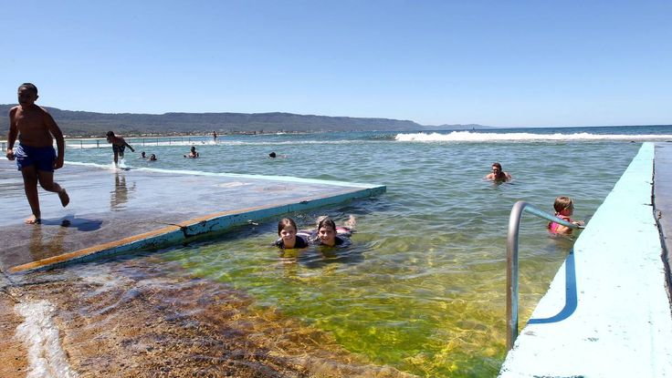 Daily dips at Bellambi rock pool