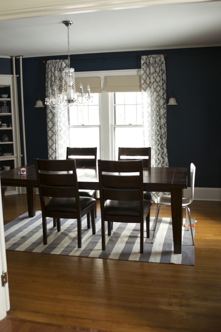 navy blue dining room home pinterest