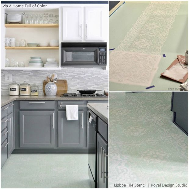 Painted Kitchen Floor Cloth: 314 Best Images About Stenciled & Painted Floors On Pinterest