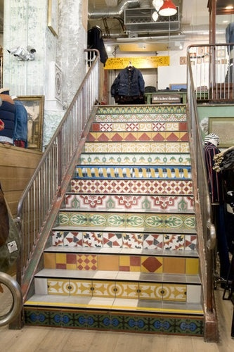 69 best Mexican Tile Stairs images on Pinterest | Tile ...