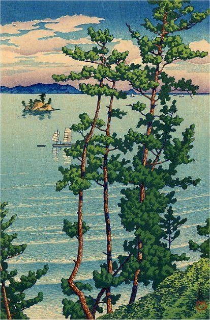 Nishi Park, Fukuoka by Kawase Hasui, 1928.