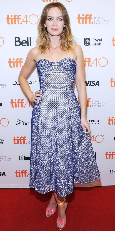 Toronto International Film Festival (TIFF) - Christian Dior strapless dress with mesh layering