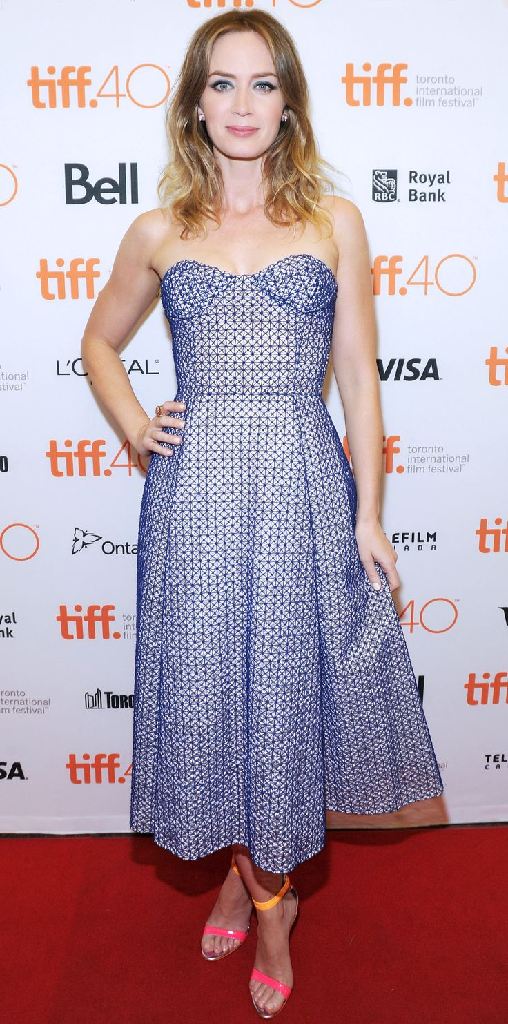 Toronto International Film Festival (TIFF) - Christian Dior strapless dress with mesh layering