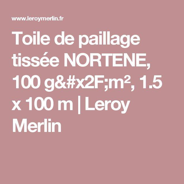 Toile de paillage tissée NORTENE, 100 g/m², 1.5 x 100 m | Leroy Merlin