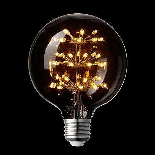 LIGHTSTORY G30 3W LED Starry Light Bulb, E26 Base, 2200K ...