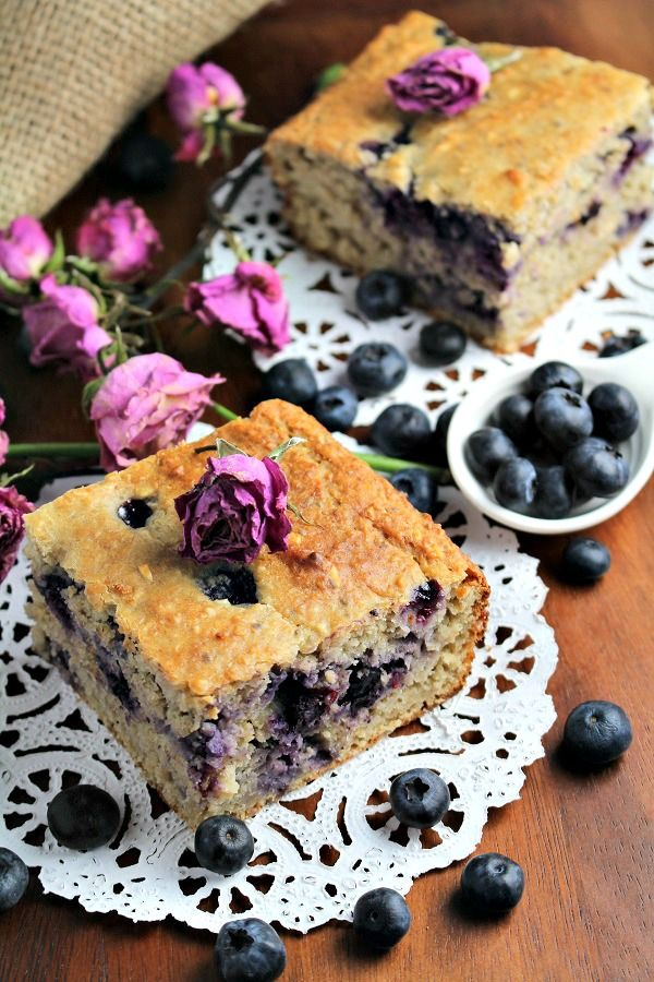 Skinny Blueberry Banana Bread - Sugar Free, Oil Free