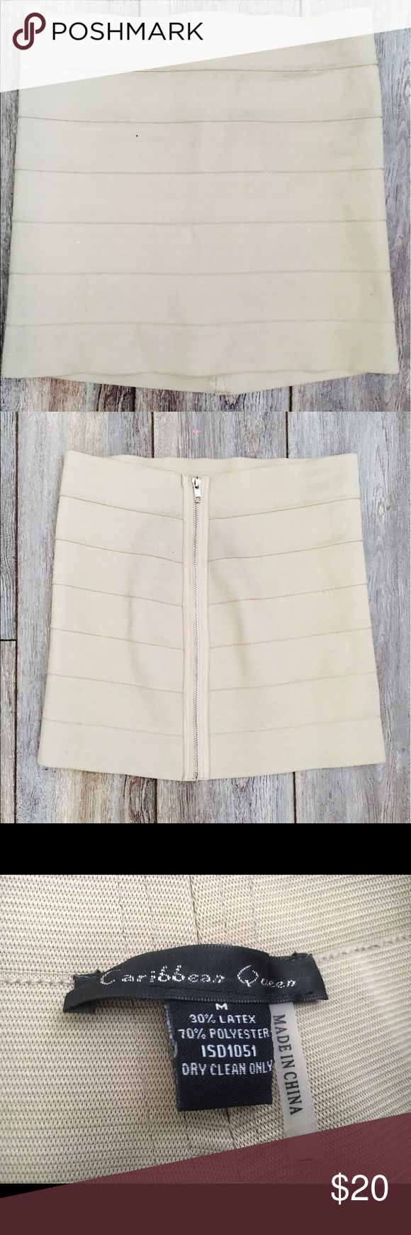 Selling this Caribbean Queen cream bandage mini skirt on Poshmark! My username is: jdonith. #shopmycloset #poshmark #fashion #shopping #style #forsale #Caribbean Queen #Dresses & Skirts