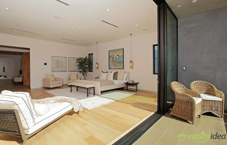 the bedroom has  private balcony