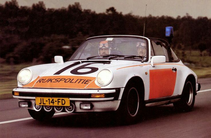 In earlier days the then so called Rijkspolitie in the Netherlands used Porsche Targa's for their highway patrol services. Both the car as the Rijkspolitie don't exist any longer