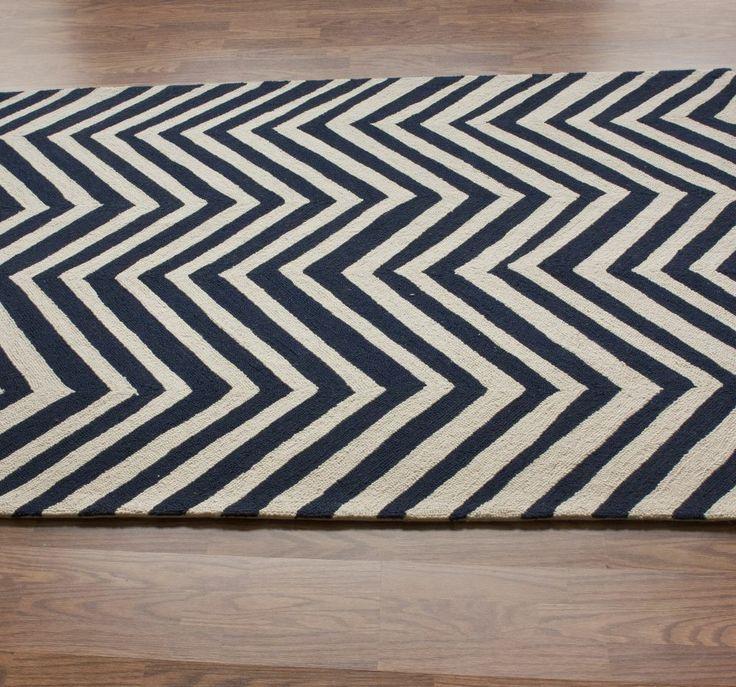 Homespun Chevron Charcoal Rug | Contemporary Rugs- living room rug