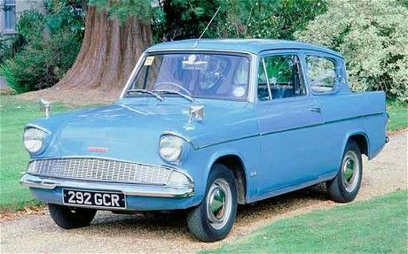 Harry Potter: Turqoise Ford Anglia 105E