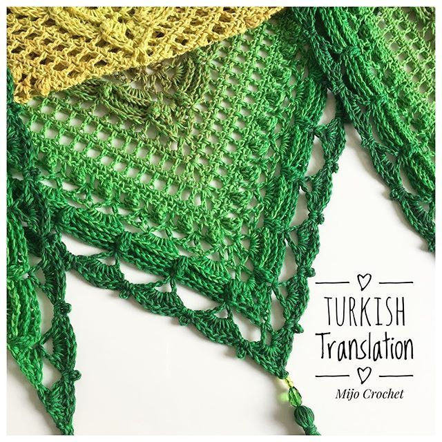 Im so happy to tell you that there is now a Turkish translation of #lostintimeshawl available on my blog 🌿Sweetest Mekko, @mekkoyazici , made this translation. Thank you so much! 💚 . You can find the #lostintimeshawl pattern on my blog by using the link in my profile 👆🏻It is now available in 10 (!) different languages (Swedish, Danish, Dutch, German, English, Spanish, French, Russian, Turkish and Finish) 🤗 Thank you all that have helped me with this! 💚 . #mijocrochet #crochetdesign…