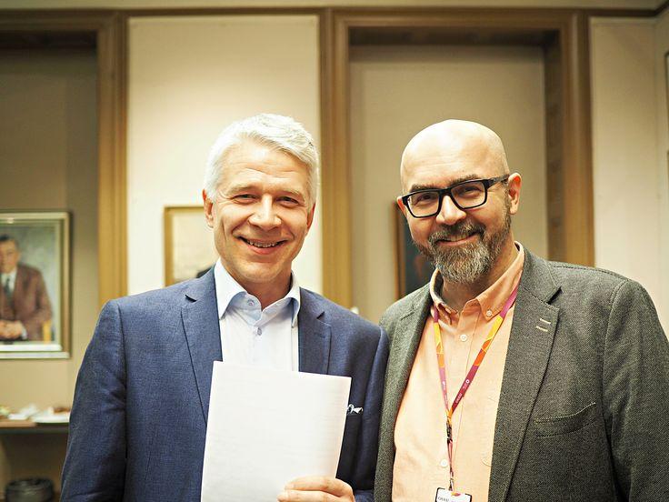 Herrat Veli-Matti Keloneva ja Ville Urponen, työn rikastajat Oulusta.