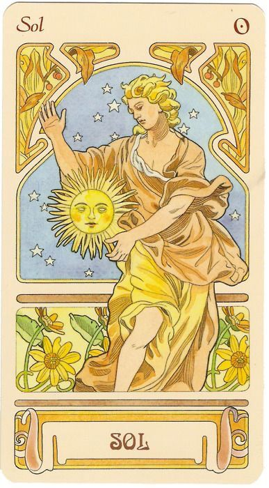 The Sun Tarot Card, Major Arcana Number 19.