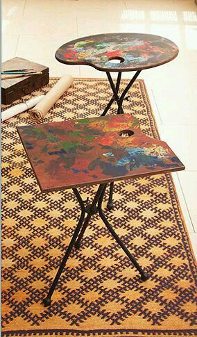 Art easel table