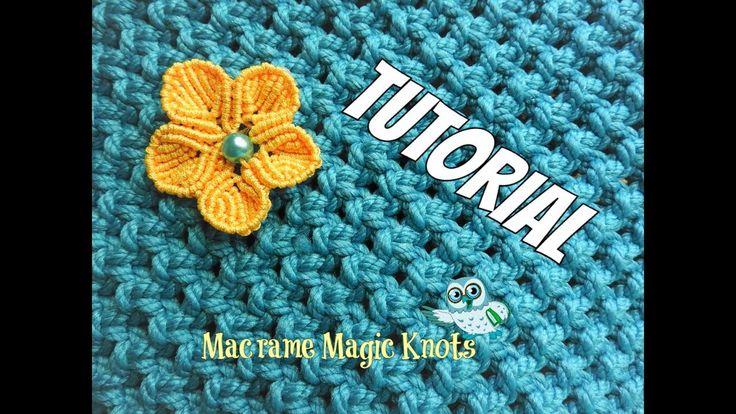 How to Make Macrame Flower ♥ Makramee Blume ♥