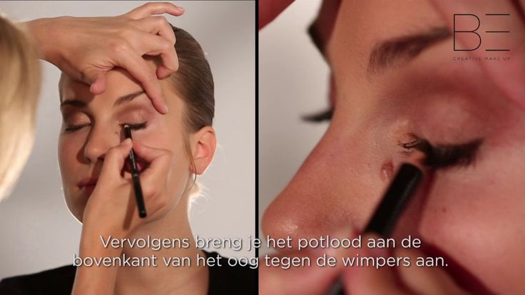 BE Creative Make Up demonstreert.... hoe gebruik je een eyeliner pencil?