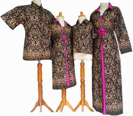 baju-gamis-batik-terbaru untuk keluarga