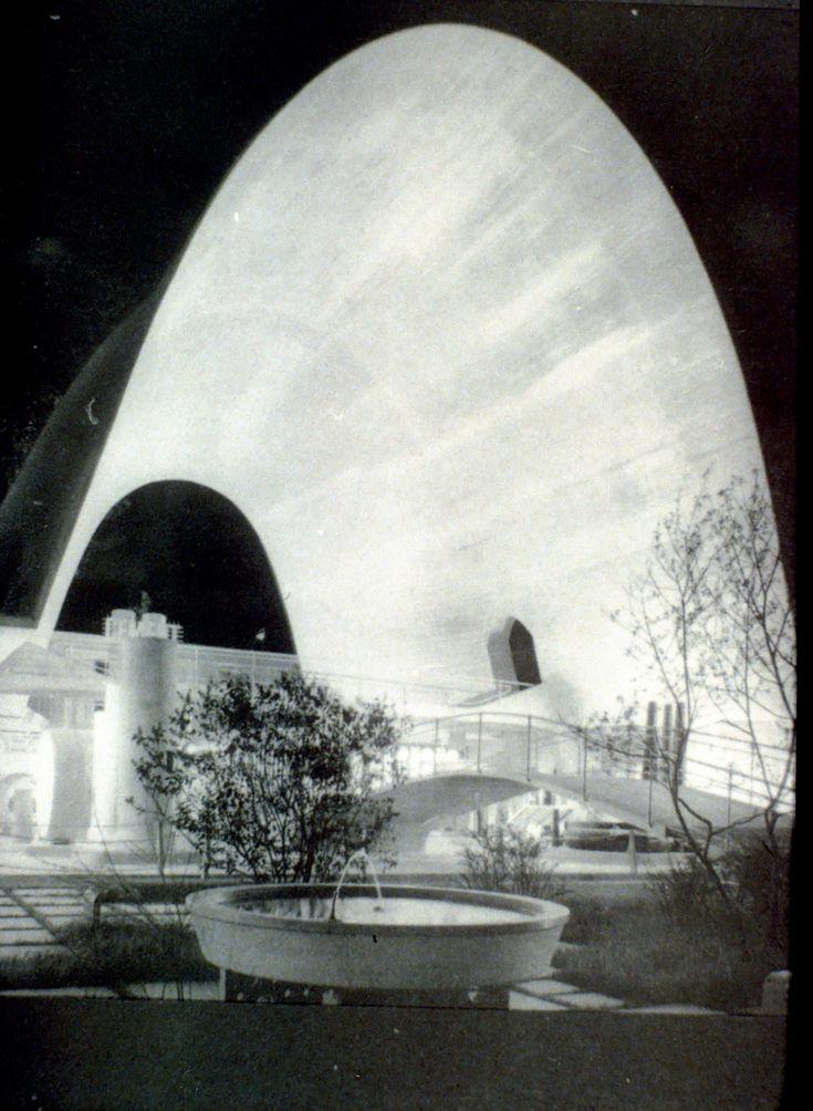 cement hall by robert maillart zurich switzerland 1939. Black Bedroom Furniture Sets. Home Design Ideas