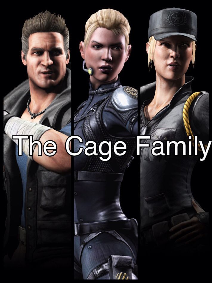 The Cage Family Johnny Cage, Sonya Blade & Cassie Cage