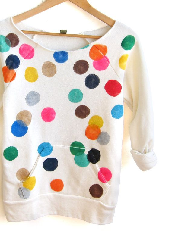 We're dotty for this sweatshirt.