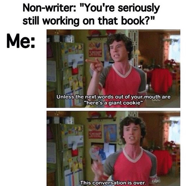 Some days are like that for a writer...