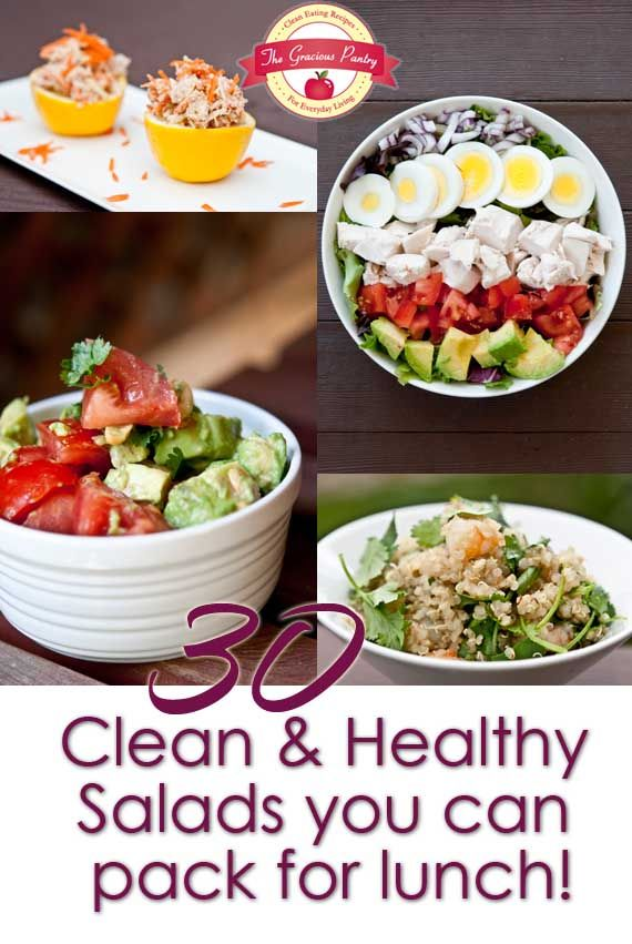 30 Clean Eating Salads You Can Take For Lunch