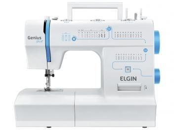 Máquina de Costura Elgin Genius Plus+ JX-4035 - Eletrônica 31 Pontos Portátil