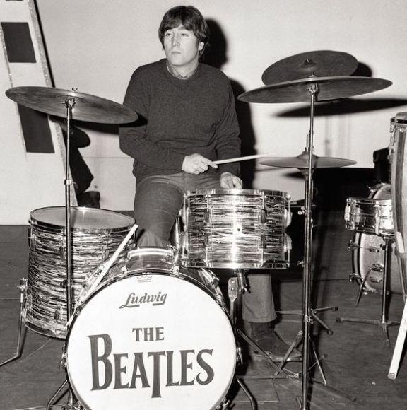 #JohnLennon drumming circa 1964 #TheBeatles
