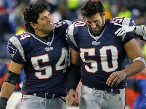 Tedy Bruschi and Mike Vrabel uh huh thats what im talking about :)
