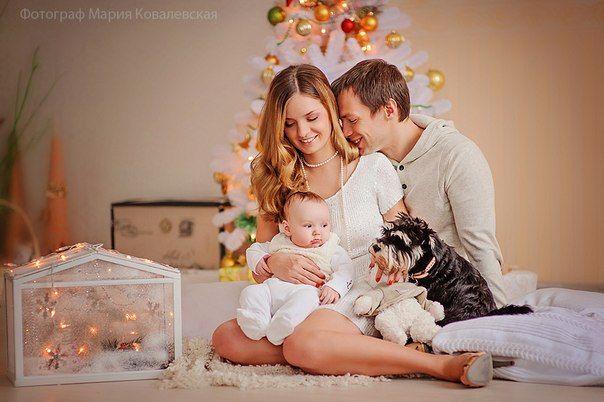 Новогодняя семейная фотосессия в студии - идеи и советы