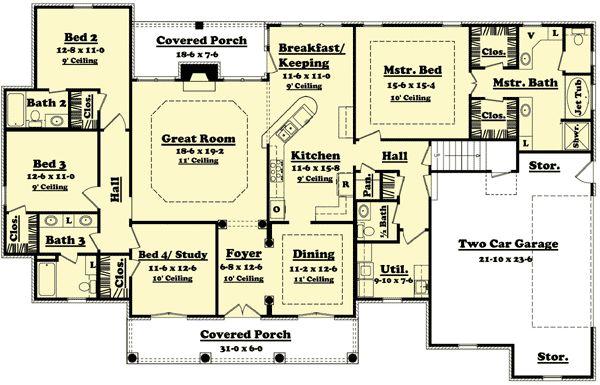 Plan HZ  Elegant Bedroom House Plan   Options   House    Plan HZ  Elegant Bedroom House Plan   Options   House plans  Bedroom House Plans and Bedroom House