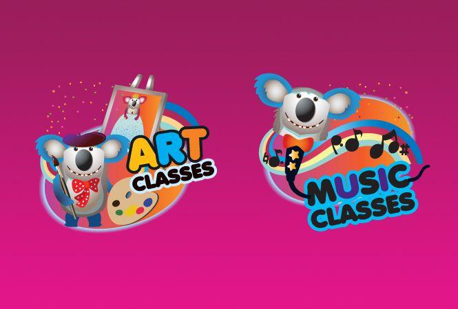 Logo for Classes Design. Children Indoor Playground